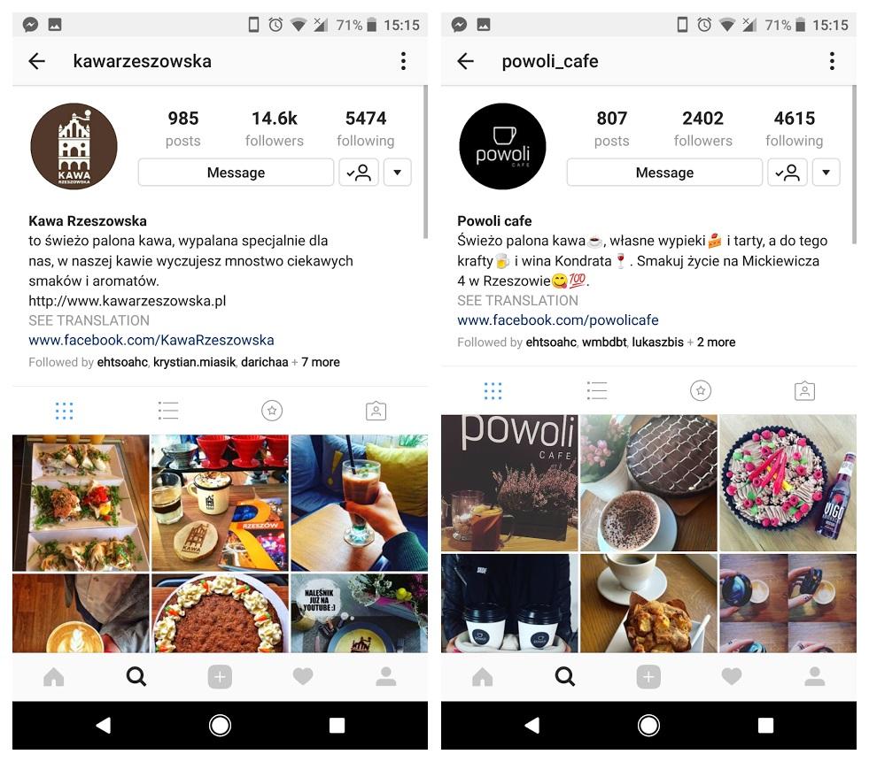 Geek Cat - Jak promować swoją działalność w sieci - Instagram profil
