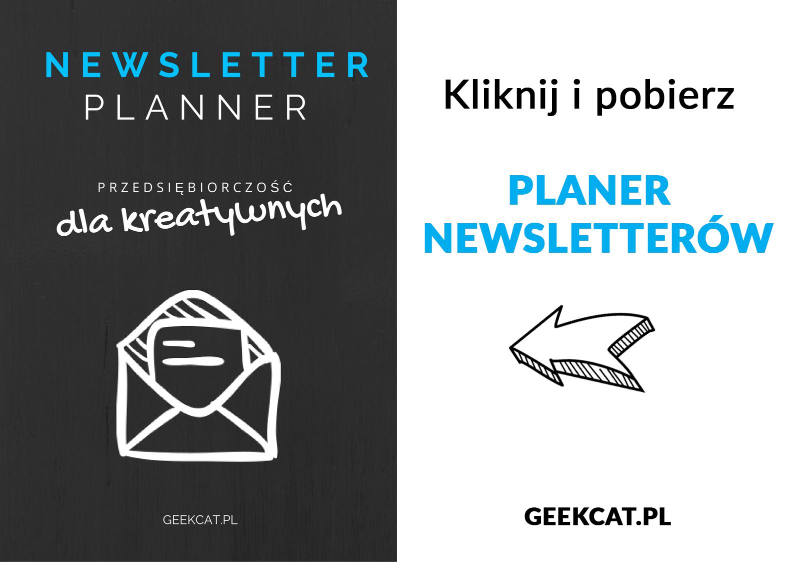 Geek Cat - darmowy planer newsletterów