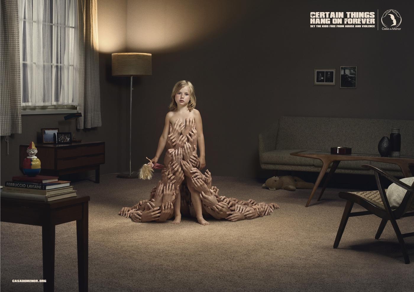 Geek Cat - Marketing - kreatywna kampania przeciw molestowaniu dzieci