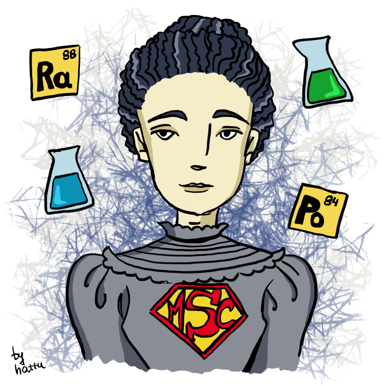 Maria Skłodowska Curie rysunek