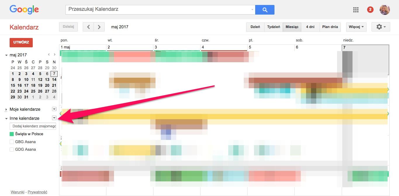 Geek Cat - Jak dodać wydarzenia z Facebooka do kalendarza Google - eksport do kalendarza - lista kalendarzy