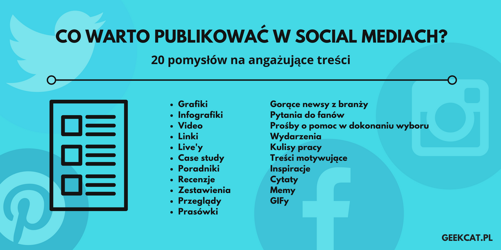 Geek Cat - 20 pomysłów na angażujące treści w social media