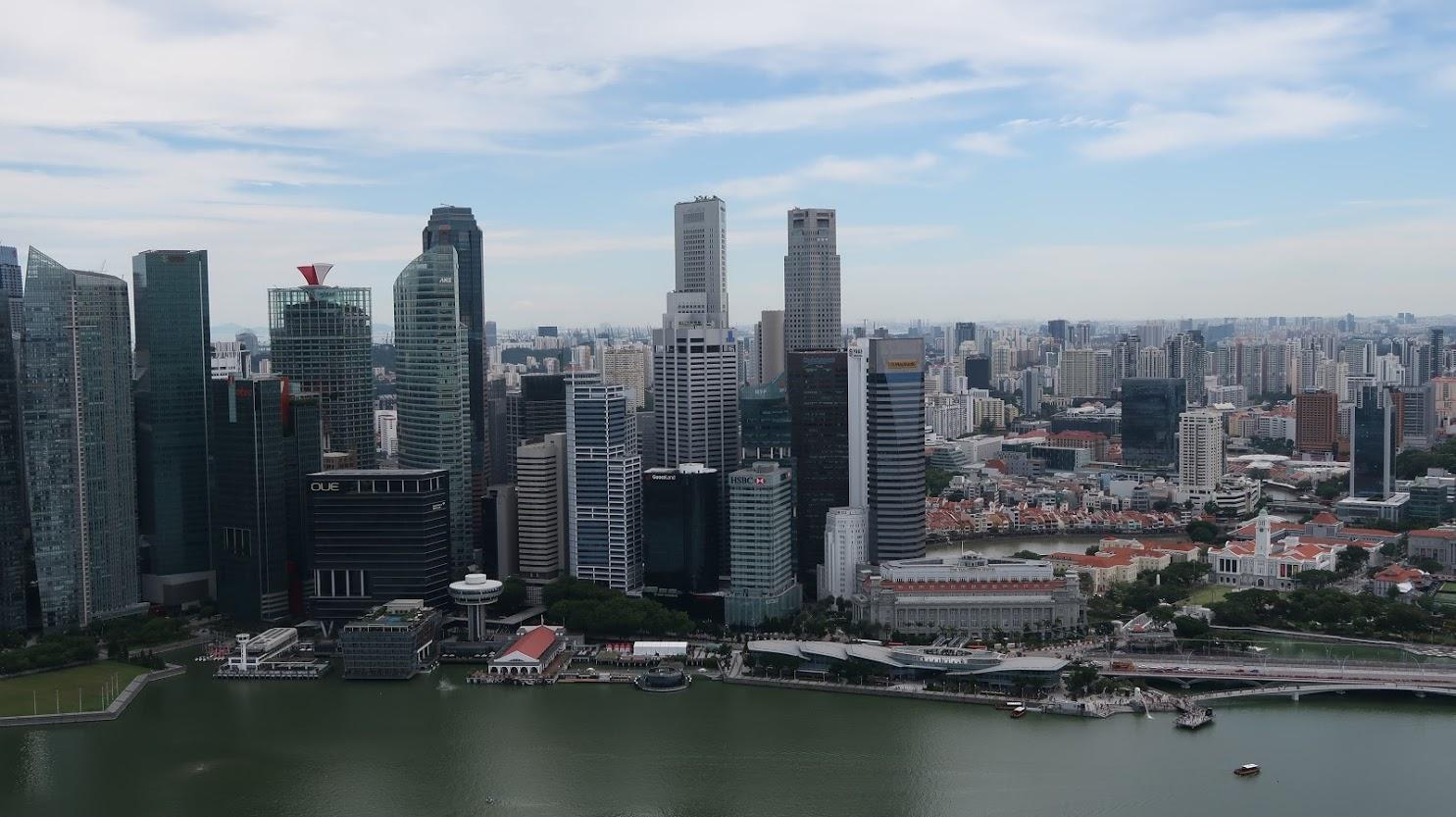 Geek Cat - Singapur - co zwiedzić - panorama Singapuru Marina Sands Bay 2