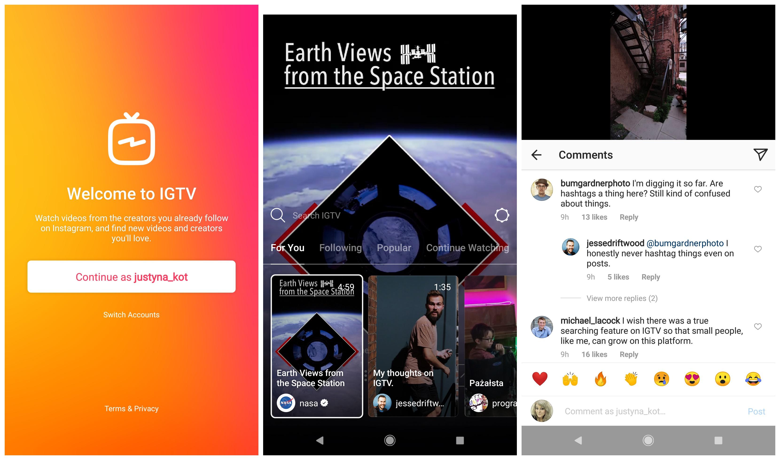 Geek Cat IGTV aplikacja Instagram