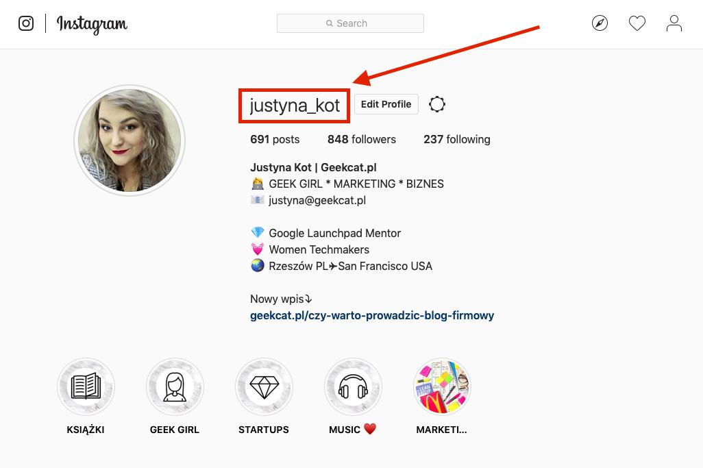 Geek Cat bio na Instagramie nazwa użytkownika gdzie znaleźć