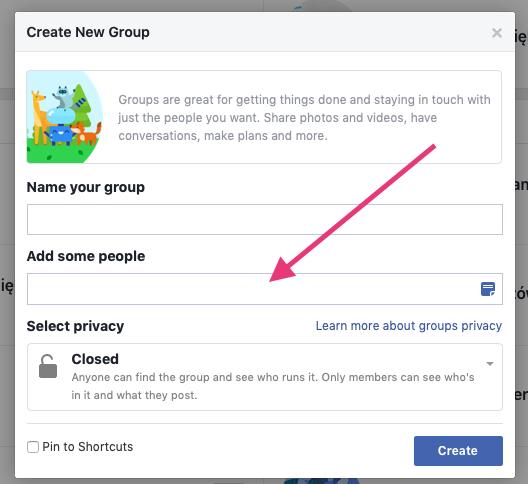 Geek Cat - jak założyć grupę na Facebooku - tworzenie grupy FB zaproszenie znajomych