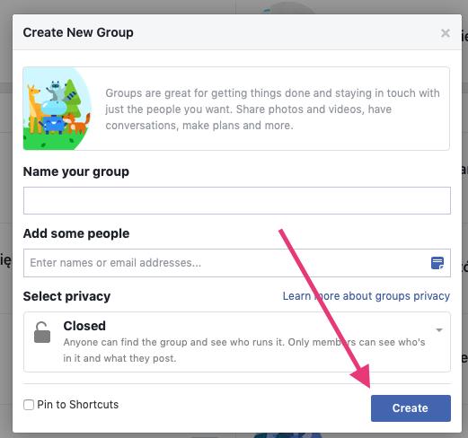 Geek Cat - grupy na Facebooku w biznesie jak złożyć od czego zacząć krok 3