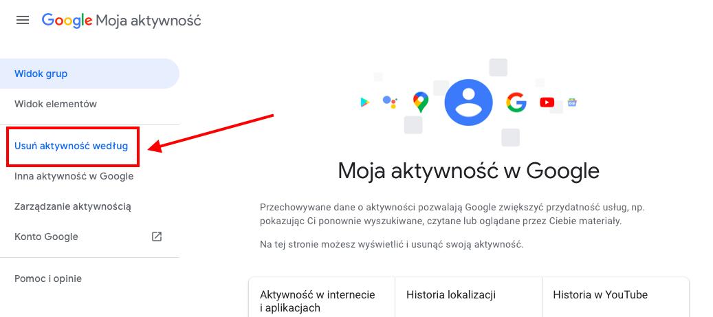 Jak usunąć to co się wpisało w google geek cat