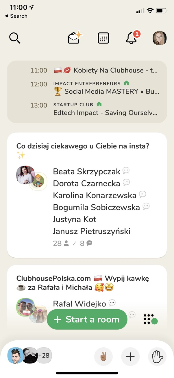 Clubhouse ekran aplikacji jak działa Clubhouse