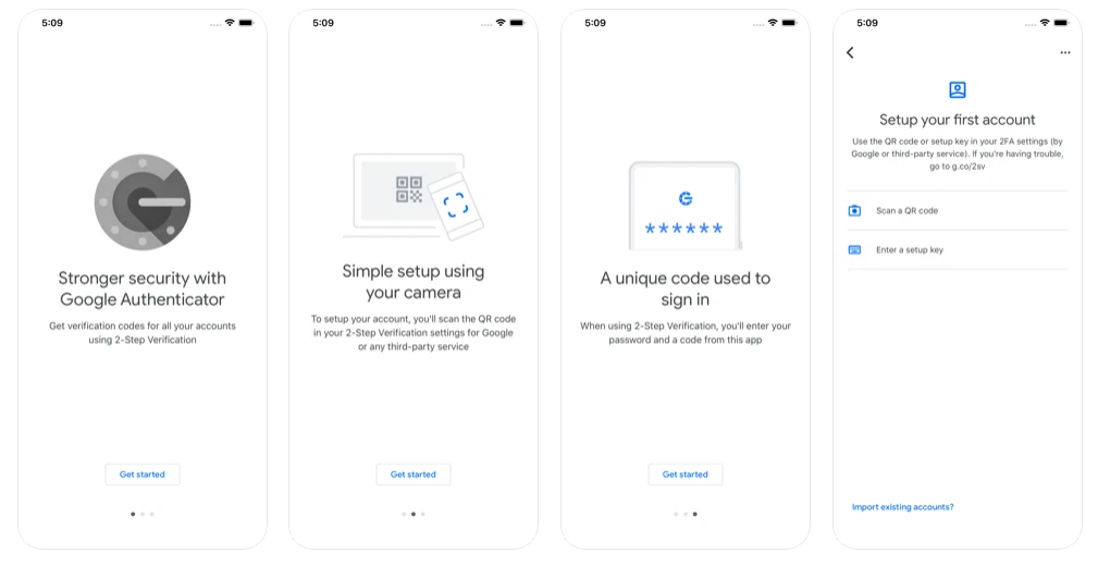 Geek Cat - aplikacje na iPhone Google Authenticator
