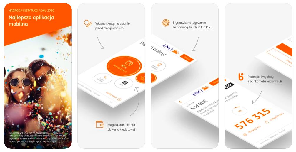 Geek Cat aplikacje na iPhone ING Mobile