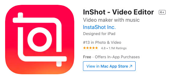 Geek Cat aplikacje na iPhone InShot video editor