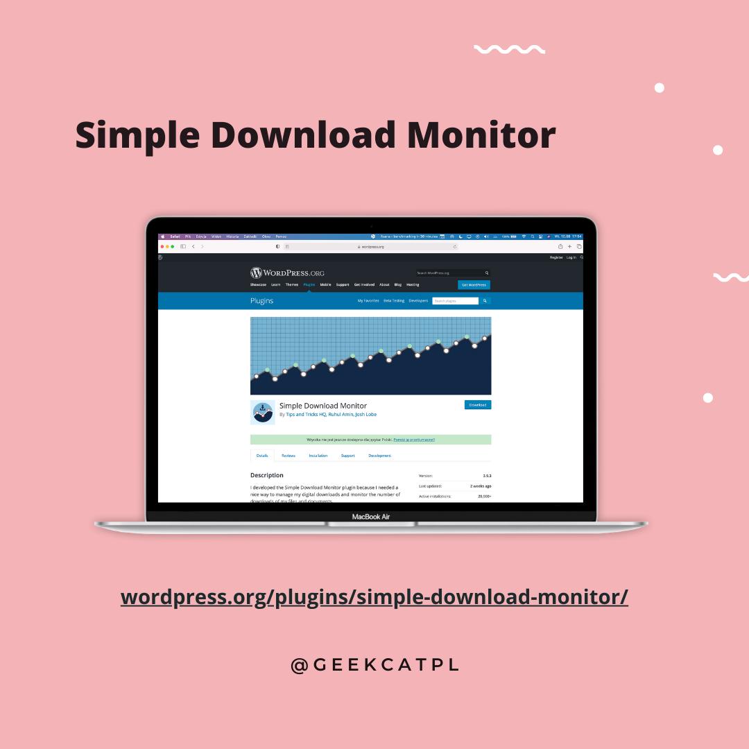 Geek Cat wtyczki wordpress Download Monitor