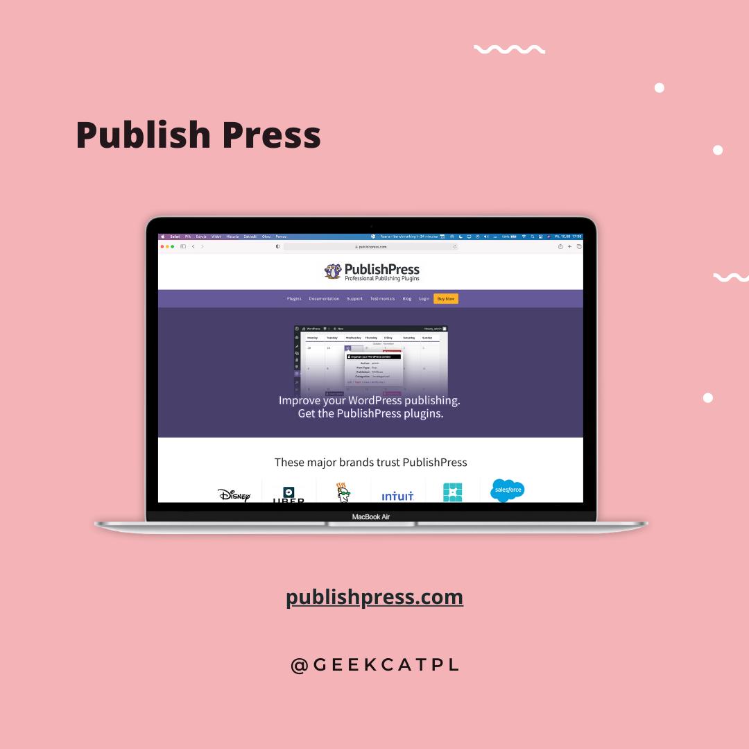 Geek Cat wtyczki wordpress Publish Press