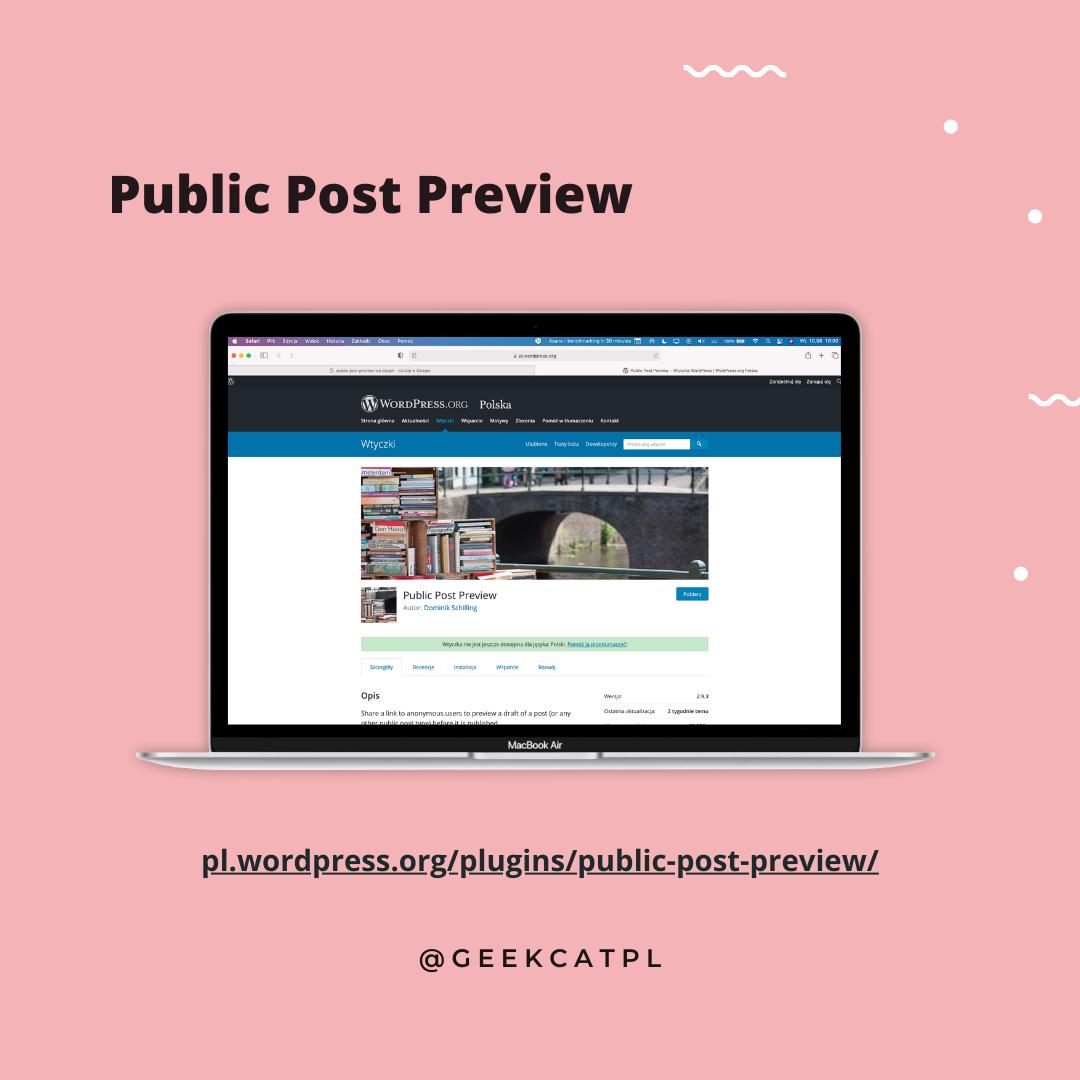Geek Cat wtyczki wordpress Post Preview